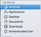 Finder - Sidebar AirDrop
