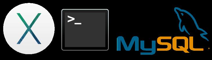 os x yosemite, terminal, mysql logos