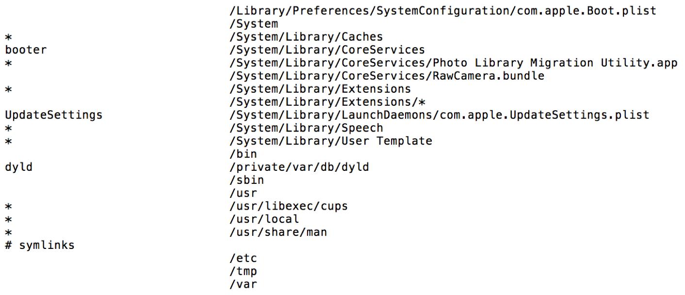OS X El Capitan System Integrity Protection