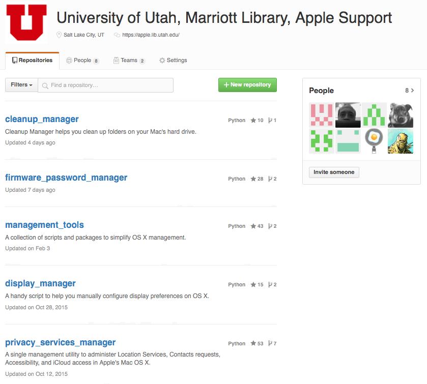 marriott library - mac github site