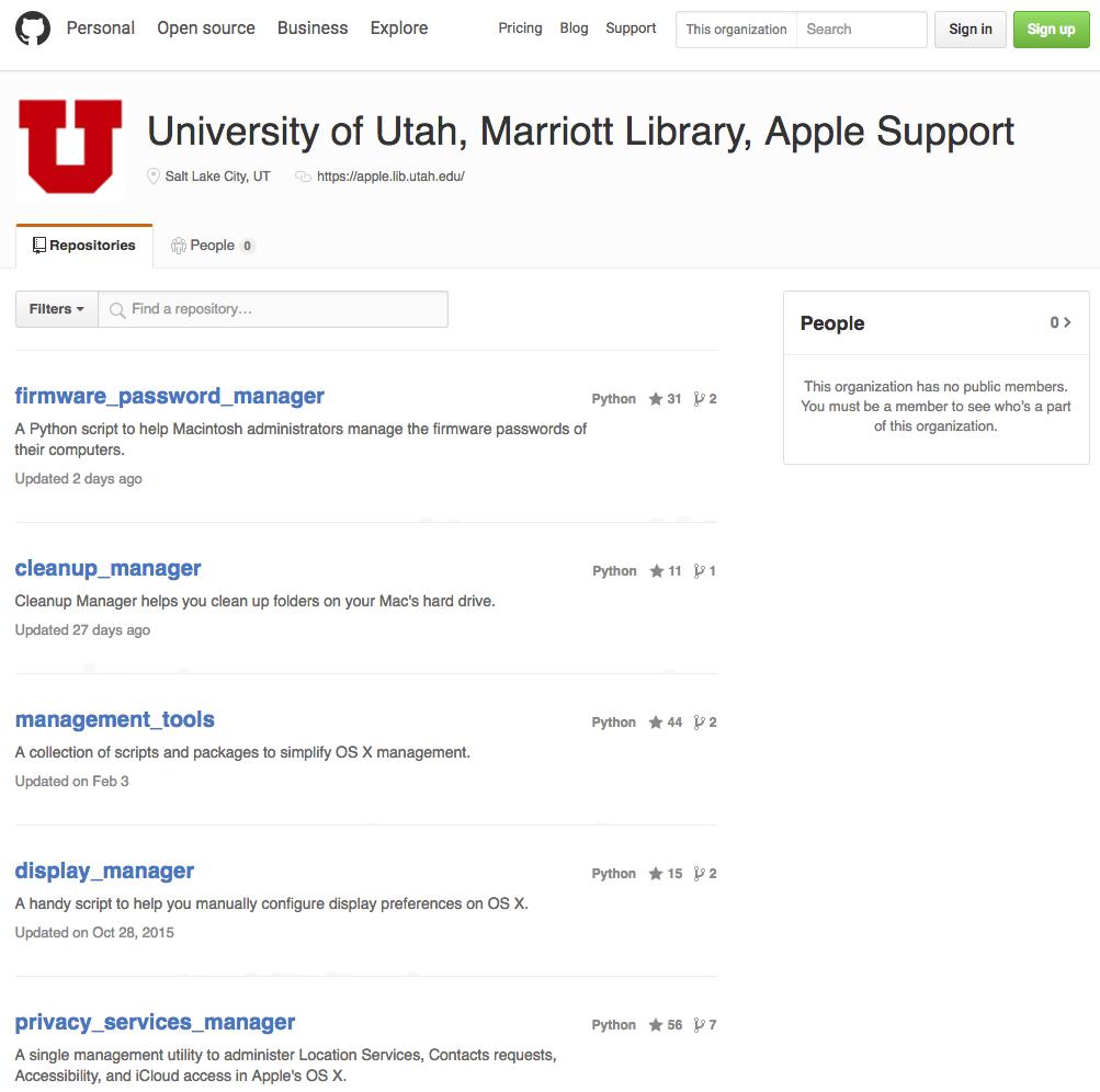 Marriott Library Github