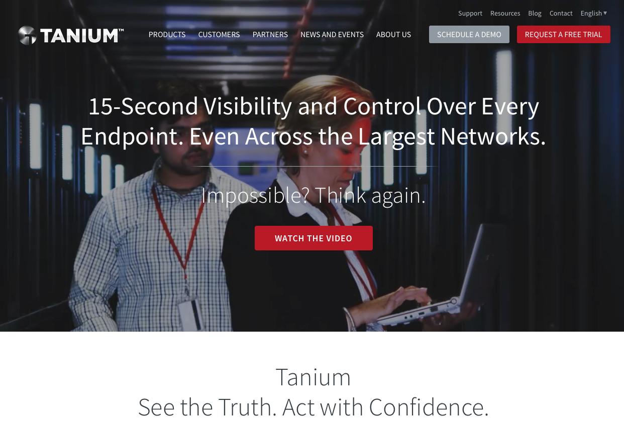 tanium web site