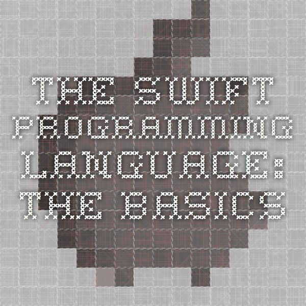 The Swift Programming Language - The Basics